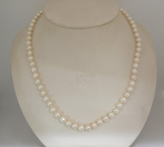Freshwater White 6 - 6.5 mm Pearl Necklace 60 Inches Long