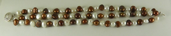 Freshwater Pearl Triple Strand Bracelet with Silver Clasp