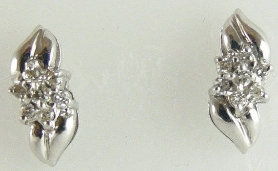 Diamond Earring 0.13ct 14k White Gold