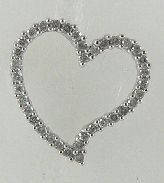 Heart Diamond 0.50ct Pendant 14k White Gold