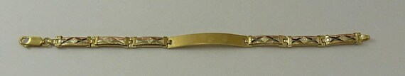 ID Bracelet 14k Yellow Gold and Pink Gold 6 Inches