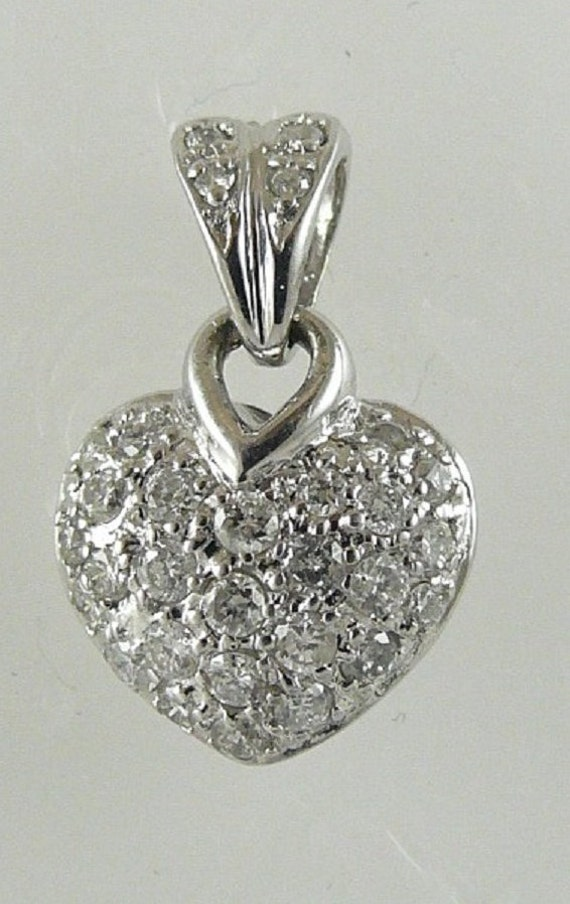 Diamond Heart 0.25ct Pendant 14k White Gold