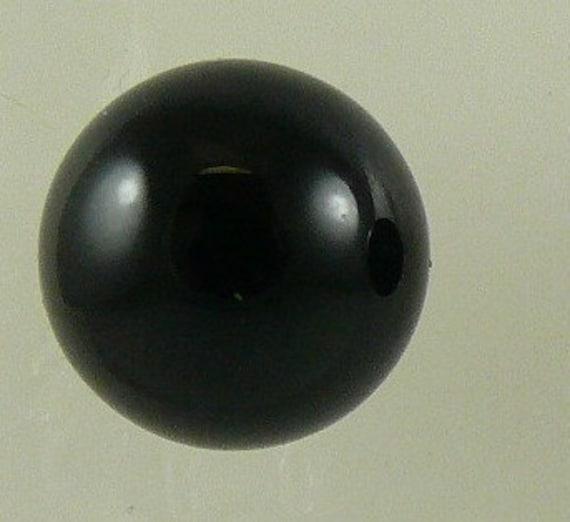 Black Onyx 10mm Stud Earring 14k Yellow Gold Post and Push Backs