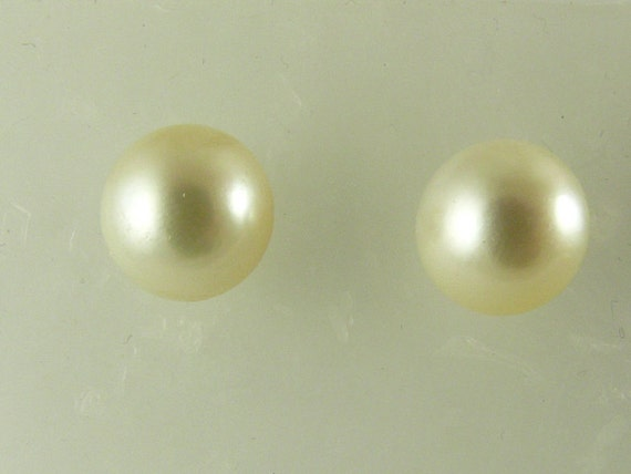South Sea Pearl Earring Stud 14k Yellow Gold