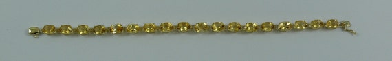Citrine 13.41ct Bracelet 14k Yellow Gold 6 3/4 inches