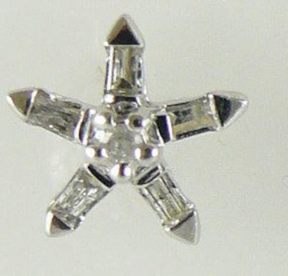 Diamond 0.16ct Earring 14k White Gold