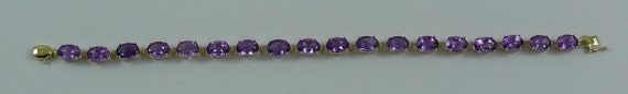 Amethyst 13.50 ct Bracelet 14k Yellow Gold 6 3/4 Inches