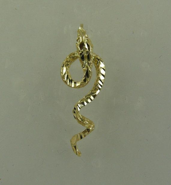 Snake Pendant 14k Yellow Gold
