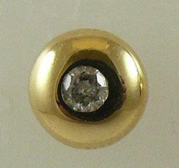 Diamond 0.11ct Stud Earring 14k Yellow Gold