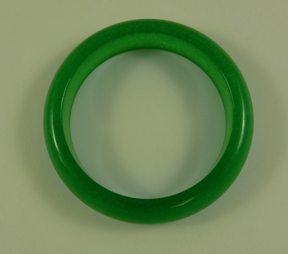 Green Jade Bangle 7 Inches