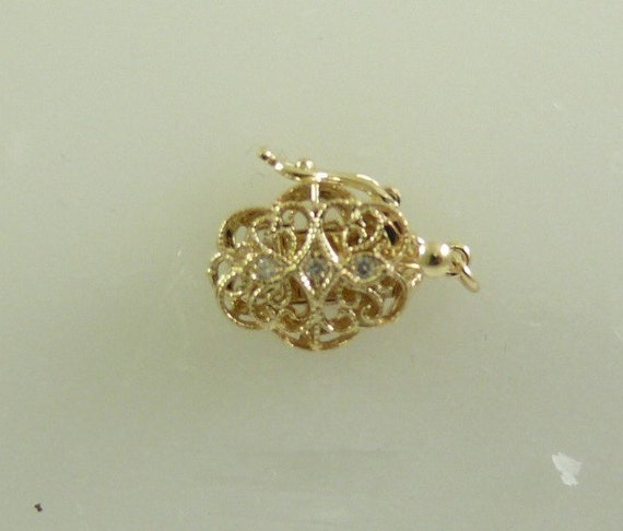 Diamond Clasp 0.3 ct 14k Yellow Gold