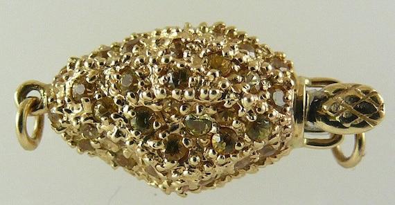 Clasp Yellow Sapphire 1.10 ct 14k Yellow Gold