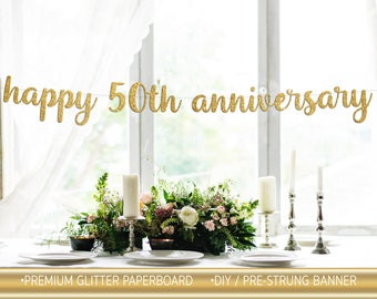 Party Decorations Wedding Celebrations Events Happy 1st Anniversary Banner x2