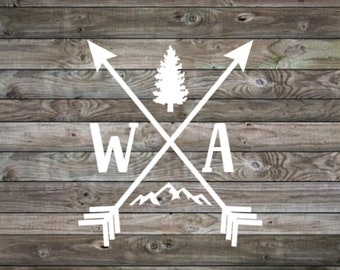 Vinyl Decal | Pnw Decal | Home decal | Pacific Northwest | travel decal | outdoors decal | Home State Decal  | laptop decal | car decal