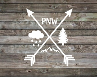 Vinyl Decal | Pnw Decal | Northwest decal | Pacific Northwest | travel decal | outdoors decal | yeti cooler decal | laptop decal | car decal