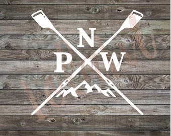 Vinyl Decal | Rowing Decal | Pnw Decal | Northwest decal | Pacific Northwest | travel decal | outdoors decal | yeti cooler decal