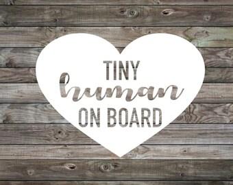 Baby on Board Sticker | Baby on Board Car Decal | Baby on Board | Tiny Human on Board decal | Car Sticker | Vinyl Decal | Window Decal |
