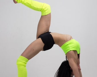 Knitted leg warmers for dance and pole dance