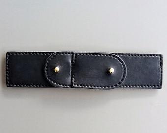 Fancy black faux leather tie