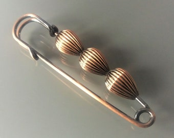 Fancy pin blackened copper color