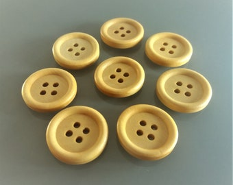 8 round wood buttons 20 mm 4 holes