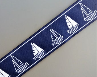 Navy and white stripe boat width 3.3 cm