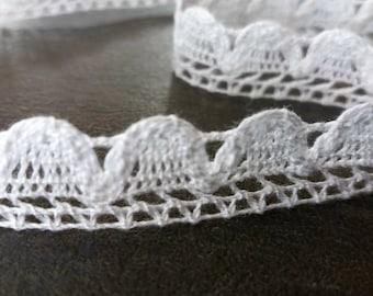 White cotton lace width 1,4 cm