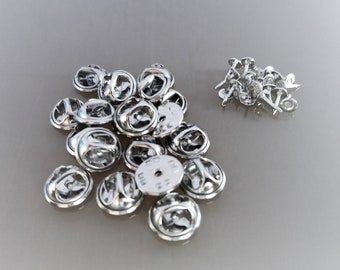20 supports metal pins silver color