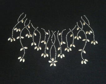 Necklace transfert strass 20 cm hot-melt