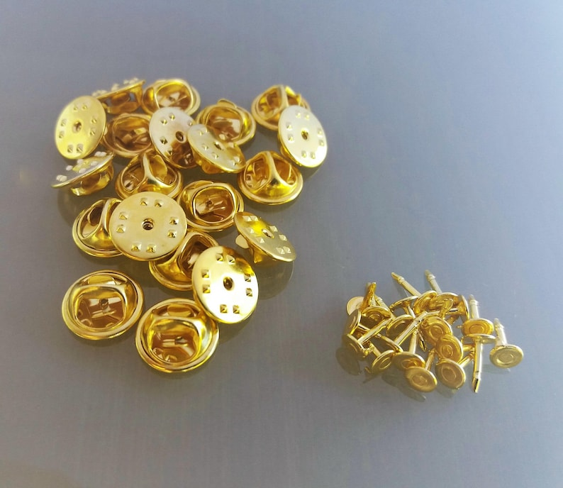 20 pins gold color metal supports image 0