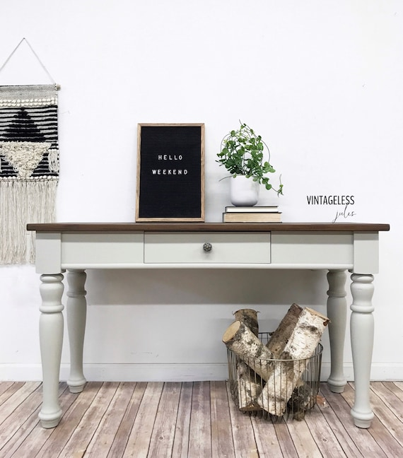 Sold Redesigned Broyhill Console Table Entry Table Painted Furniture Sofa Table Farmhouse Table