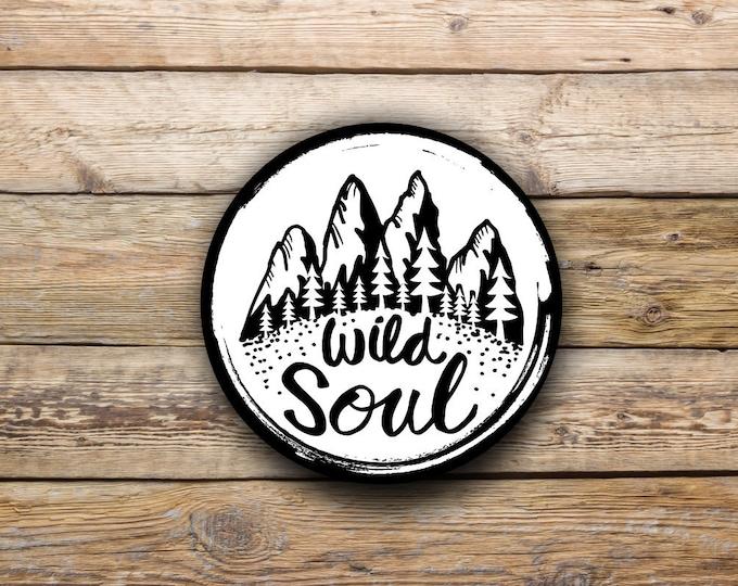 Wild Soul Vinyl Sticker for Auto Cars Trucks Macbook Tumblers Windows and Laptops