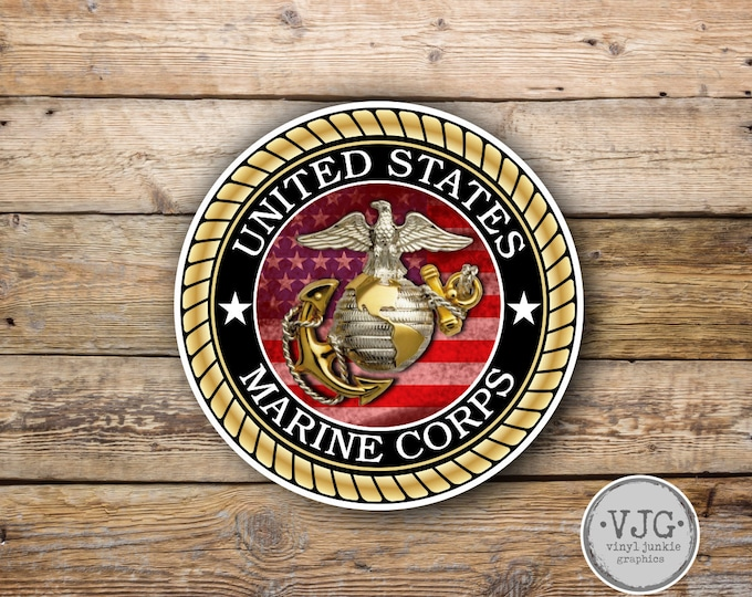 US Marine Corps Sticker for Cars Trucks for Honor and Support of Our Troops Vinyl Window Bumper 4 x 4 inch …