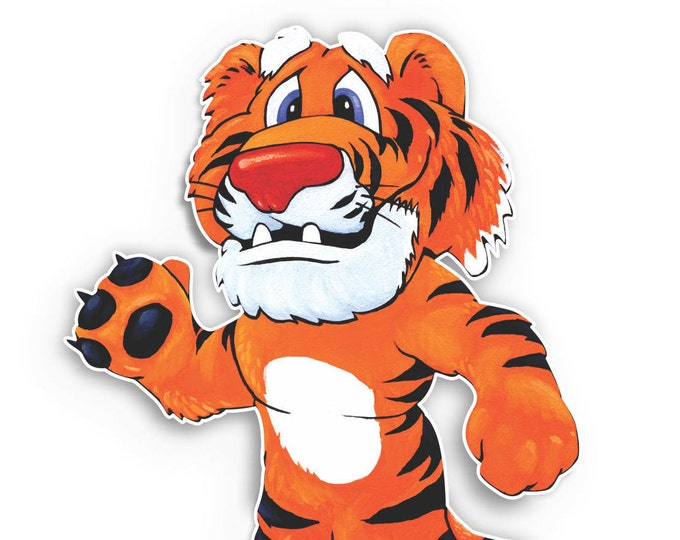 Tiger Cartoon Sticker for car truck laptop or any smooth surface  ***Free Shipping***