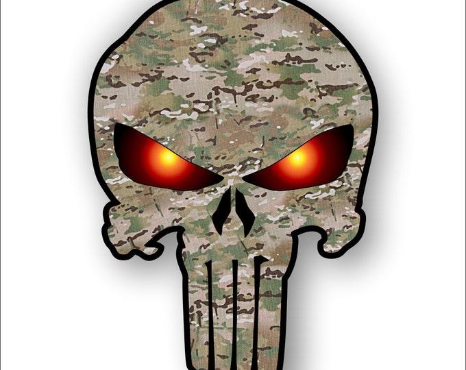 Multi Camo Punisher sticker / decal **Free Shipping**