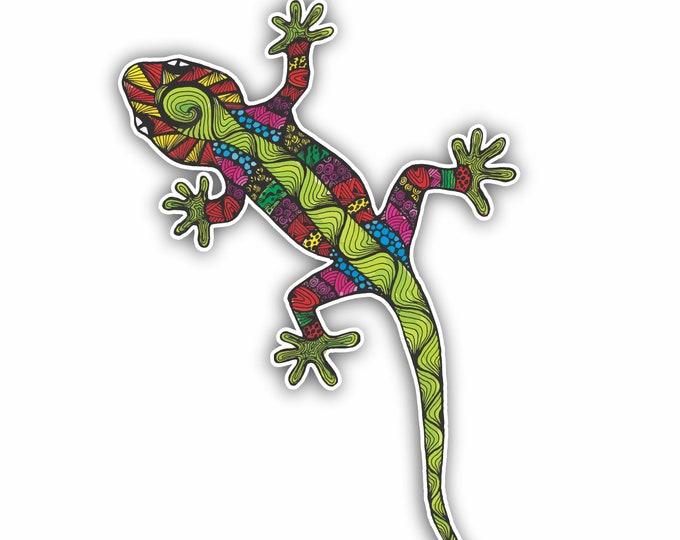 Gecko Decorative Sticker for car truck window laptop computers bumper sticker 4X6 inches