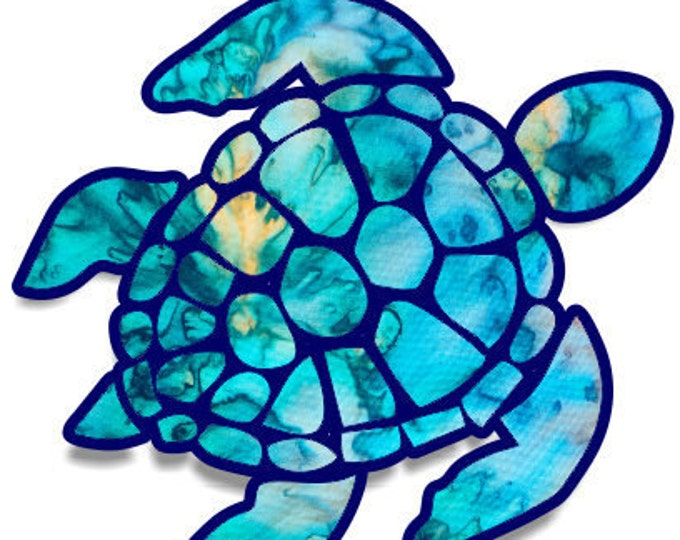 Lilly Inspired Sea Turtle Decal | Yeti Decal | Lilly Car Decal | Rtic Decal | Turtle Decal | Car Decal | Beach Decal | Sea Decal