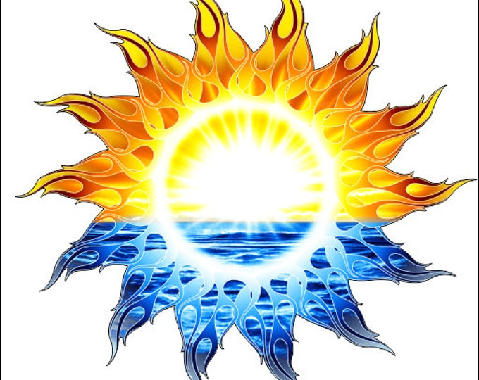 Tribal Sun Sticker for car truck laptop or any smooth surface  ***Free Shipping***