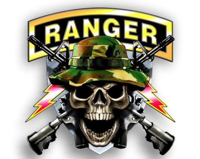 Army Ranger Skull Sticker Vinyl Decal for Auto Cars Trucks Windshield Laptop RV Camper