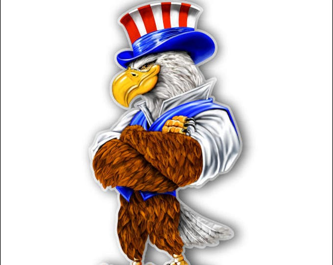 Uncle Sam American Eagle Sticker  for car truck laptop or any smooth surface  ***Free Shipping***