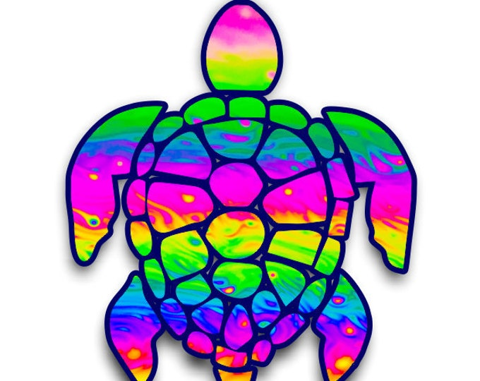 """Sea Turtle 3""""  sticker for cell phones, cars, trucks laptops  stick to any smooth surface"""