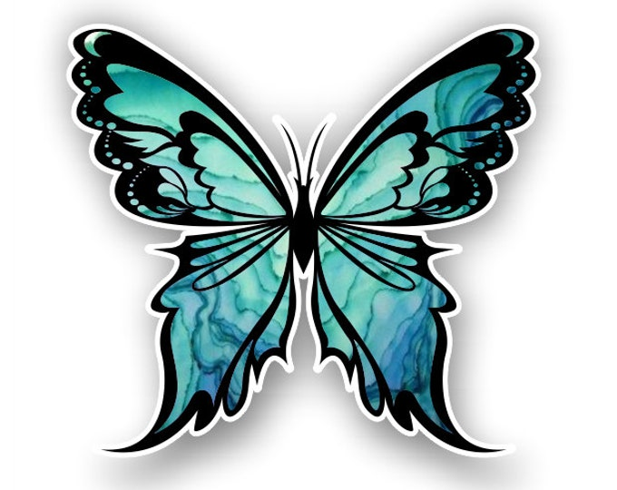 Blue Butterfly sticker / decal**Free Shipping**