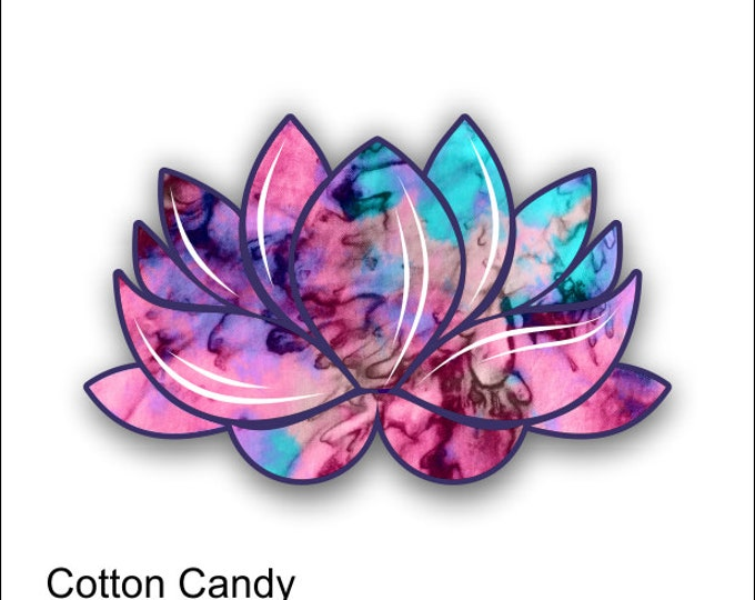 lotus flower cotton candy sticker / decal **Free Shipping**