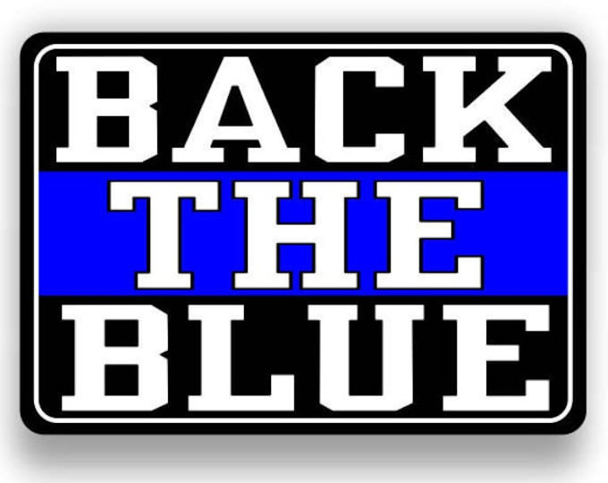back the blue American Flag Decal/Sticker  **Free Shipping**
