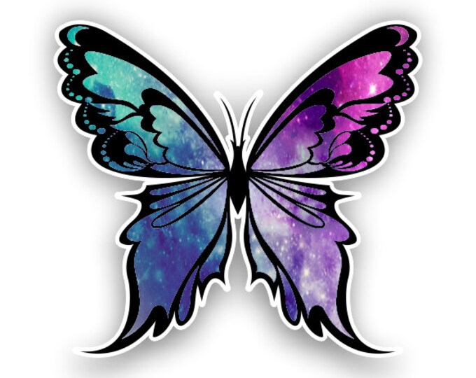 Starry Sky Butterfly sticker / decal**Free Shipping**