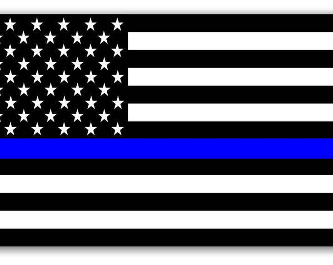 Thin Blue Line USA Flag Decal American Flag Sticker for cars trucks for honoring and support of our brave police law enforcement officers