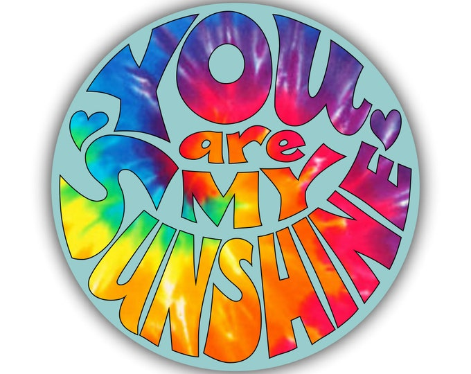 You Are My Sunshine Sticker for car truck laptop Hydro flask bottle or any smooth surface