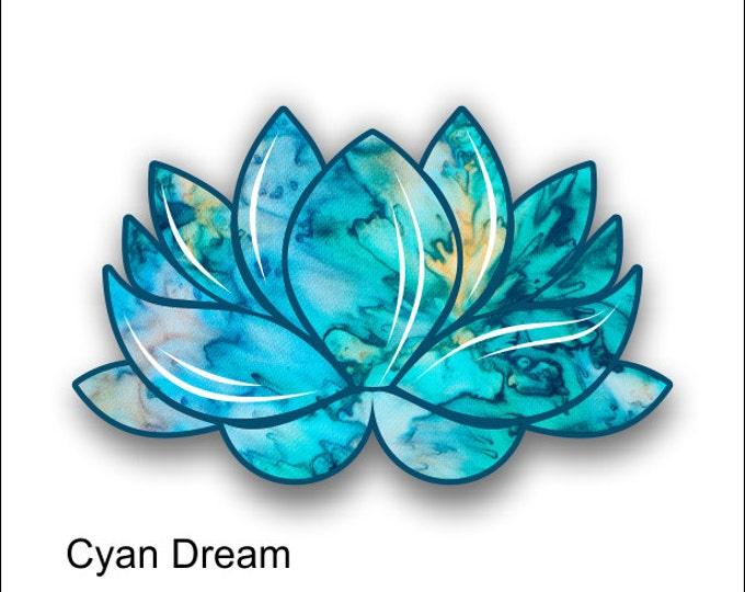 lotus flower cyan dream sticker / decal **Free Shipping**
