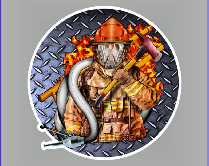 Fireman hose sticker / decal **Free Shipping**