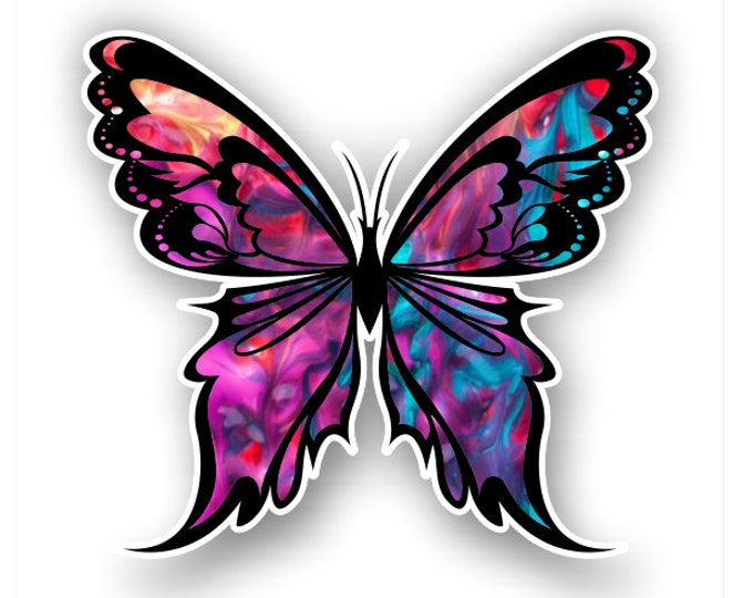 Kalidescope Butterfly sticker / decal**Free Shipping**